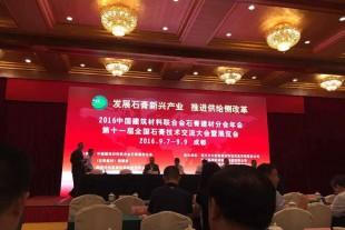 甘肃景泰金龙建材公司荣获第十一届全国石膏行业突出贡献奖
